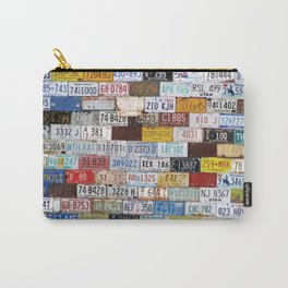State License Plate Collage Carry-All Pouch