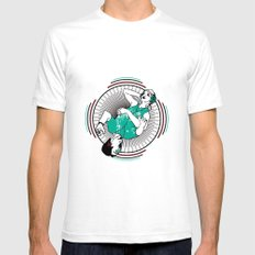 Dualism White Mens Fitted Tee SMALL