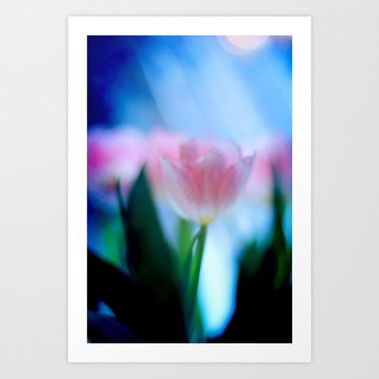 Tulip love (Blue) Art Print