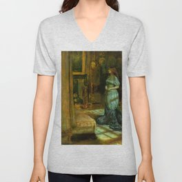 "John Everett Millais ""The Eve of Saint Agnes"" Unisex V-Neck"