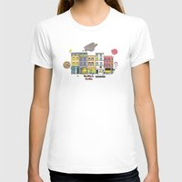 brussels T-shirts featuring Brussels buildings by zldrawings