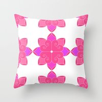 fifth harmony Throw Pillows featuring Harmony by Elisa Rosa