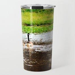 Canada Goose and Goslings II Travel Mug