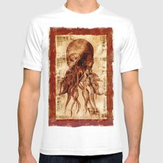 OctopuSkull SMALL White Mens Fitted Tee