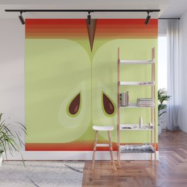 Red Sliced Apple Wall Mural