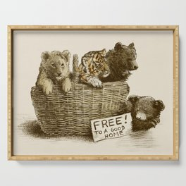Lions and Tigers and Bears Serving Tray