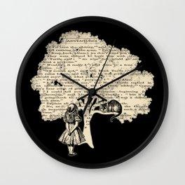 Alice In Wonderland Vintage Book Wall Clock