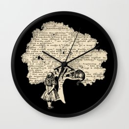 Alice In Wonderland Vintage Book Wall Clock