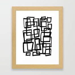 all boxed up Framed Art Print