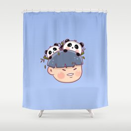 Panda Boy Shower Curtain