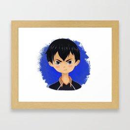 Kageyama Tobio from Haikyuu!! Framed Art Print