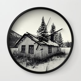 Trees on the roof Wall Clock