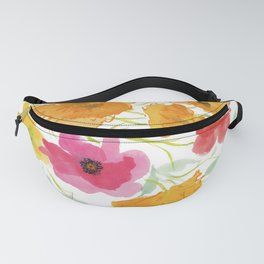 Watercolor Poppies Fanny Pack
