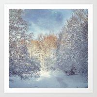 blanket Art Prints featuring White Blanket by Dirk Wuestenhagen Imagery