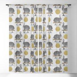 Tribal Rabbit Sheer Curtain
