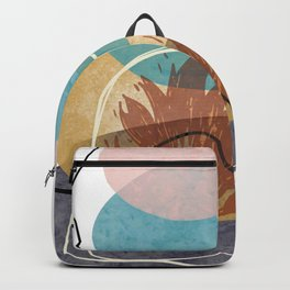 Creative Minimalist Hand Drawn Fire Flame Doodle Sketch Vector Illustration, Hand Painted Shapes Backpack