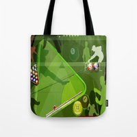 pool Tote Bags featuring Pool by Robin Curtiss