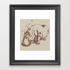 Hippo-Thesis Framed Art Print