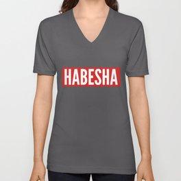 Habesha graphic Ethiopia Eritrea Gift Idea print Unisex V-Neck