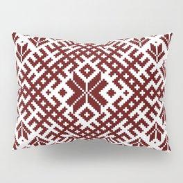 Latvian Traditional Folk Belt Design Pattern Pillow Sham
