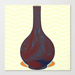A SACRIFICIAL BLUE-GLAZED BOTTLE VASE CHINA Canvas Print