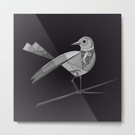Robot bird Metal Print