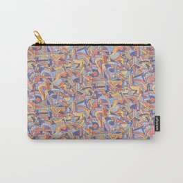 Party in Orange and Blue Carry-All Pouch