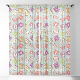 Ugly Christmas Sweaters Sheer Curtain