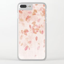 My favourite colour: PINK OCTOBER - Indian Summer - Rose Gold autumnal leaves Clear iPhone Case