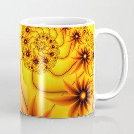 Luminous Fantasy Flowers Fractal Coffee Mug