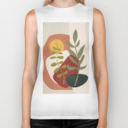 Two Abstract Branches Biker Tank