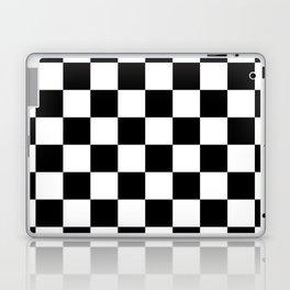 Checkered Pattern: Black & White Laptop & iPad Skin