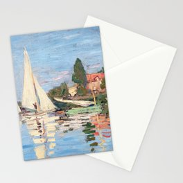 Claude Monet - Regattas at Argenteuil Stationery Cards