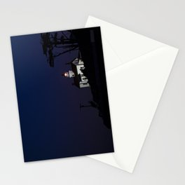 Battery Point Lighthouse in the night's blue cloak. Crescent City, California Stationery Cards