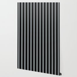THICK STRIPES, GREY AND BLACK Wallpaper