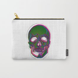 Skull Digital Drawing Carry-All Pouch