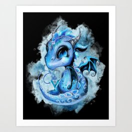 Lil DragonZ - Elements Series - Water Art Print