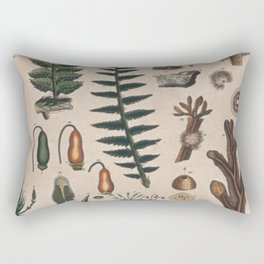 Botany Chart Rectangular Pillow