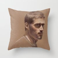 jack Throw Pillows featuring Jack by Jackie Sullivan