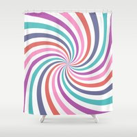 carnival Shower Curtains featuring Carnival by The Nostalgic Whim