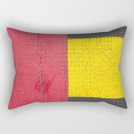 Red Grey Yellow Rectangular Pillow