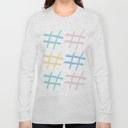 Hashtag pastel palette Long Sleeve T-shirt
