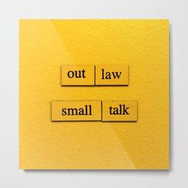 Small Talk Metal Print