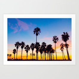 Venice Beach at Sunset Art Print