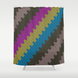 Colorful Zigzag Pattern Shower Curtain