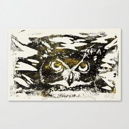 Horned Owl Print Canvas Print