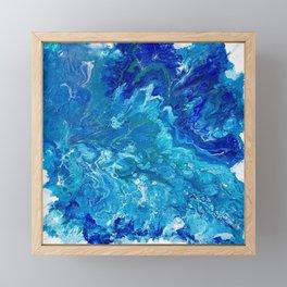 Dark Ocean Blue Framed Mini Art Print