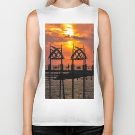 California Dreaming - Redondo Beach Pier Biker Tank