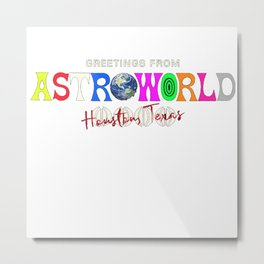 Astro World Houston Metal Print
