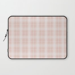 Spring 2017 Designer Color Pale Pink Dogwood Tartan Plaid Check Laptop Sleeve